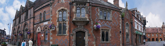 Panorama of the Literary Institute in the Picturesque Town of Sandbach in South Cheshire England Royalty Free Stock Photo