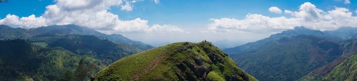 Panorama of Little Adam`s Peak Mountain in Sri Lanka