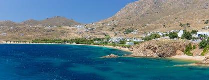 Panorama of Livadakia beach, Serifos island, Greece Royalty Free Stock Images
