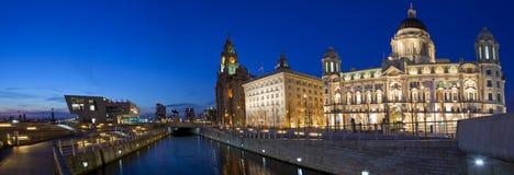 Panorama- Liverpool Arkivfoto