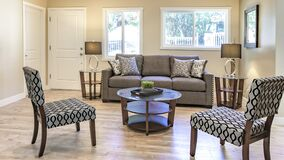 Free Panorama Living Room With Bamboo Plant Clean Inside Royalty Free Stock Photos - 168704018