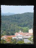 A Panorama Of Ljubljana from a castel of Ljubljana. Ljubljana from the window of a castel up in the mountain Royalty Free Stock Images