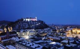 Panorama of Ljubljana Royalty Free Stock Photography