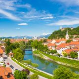 Panorama of Ljubljana, Slovenia, Europe. Stock Images