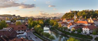 Panorama of Ljubljana, Slovenia, Europe. Royalty Free Stock Photo