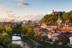 Panorama of Ljubljana, Slovenia, Europe. Stock Images