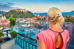 Panorama of Ljubljana, Slovenia, Europe. Royalty Free Stock Photos