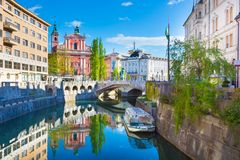 Panorama of Ljubljana, Slovenia, Europe. Royalty Free Stock Photos