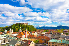Panorama of Ljubljana, Slovenia, Europe. Royalty Free Stock Images