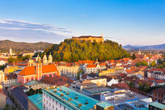 Panorama of Ljubljana, Slovenia, Europe. Stock Photos