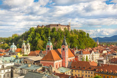 Panorama of Ljubljana, Slovenia, Europe. Royalty Free Stock Photography