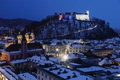 Panorama of Ljubljana Stock Photo