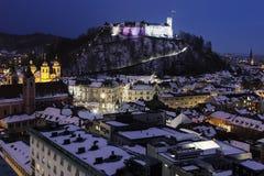 Panorama of Ljubljana Royalty Free Stock Photo