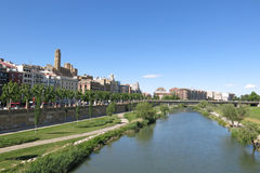 Panorama of Lleida. Catalonia, Spain. Royalty Free Stock Image