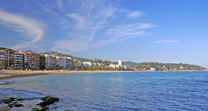 Panorama of Lloret de Mar. stock photo