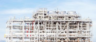 Panorama of LNG Refinery plant Stock Image
