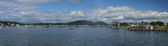 Panorama - Lobster traps Royalty Free Stock Photo