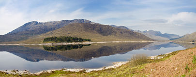 Panorama of Loch Cluanie Royalty Free Stock Photography
