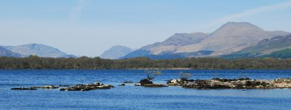 Panorama at Loch Lomond royalty free stock photos