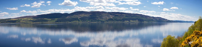 Panorama of Loch Ness Royalty Free Stock Images