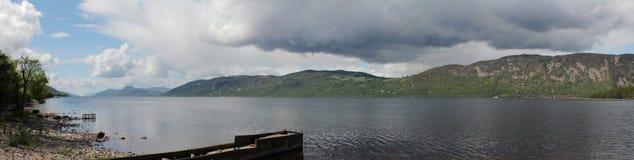 panorama- Loch Ness Arkivfoto