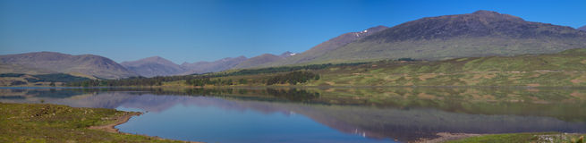 Panorama of Loch Tulla Royalty Free Stock Images