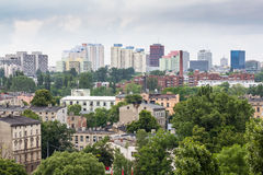 Panorama of Lodz city in Poland Stock Photos