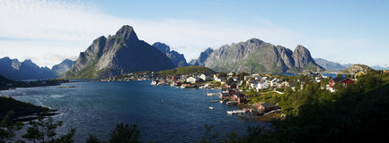 Panorama of Lofoten Stock Photography