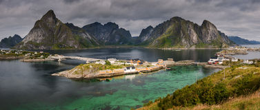 Panorama of the Lofoten Islands Royalty Free Stock Photo