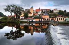 Panorama of Loket. Czech republic Stock Photo