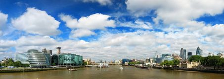 Panorama of London. From the Tower bridge Stock Photos