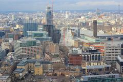 Panorama of London Borough of Southwark Royalty Free Stock Images