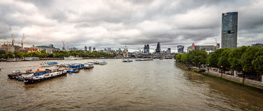 Panorama of London cityscape at sunset Royalty Free Stock Photos