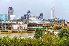 Panorama of London. Image was taken on August 2013 Stock Photos