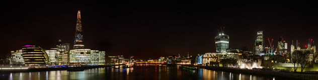 Panorama of London at night Stock Photo