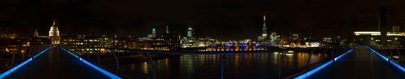 Panorama of London at night Stock Image