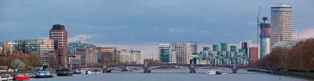 Panorama of London Skylines Royalty Free Stock Photography