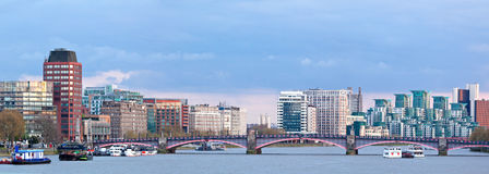 Panorama of London Skylines Royalty Free Stock Photo