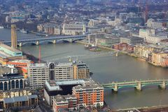 Panorama of London Thames river Royalty Free Stock Image