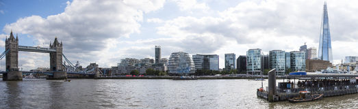 Panorama of London Thames Riverside Stock Photography