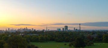 Panorama Londyńska linia horyzontu widzieć od Pierwiosnkowego wzgórza Zdjęcia Royalty Free