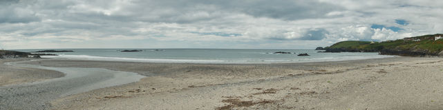Panorama of long strand, ireland Stock Photography
