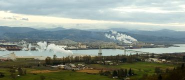 Panorama: Longview, Washington Stockfotos