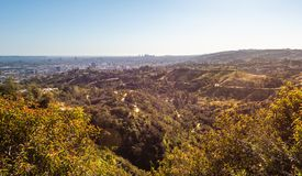 Panorama of Los Angeles city i stock photo