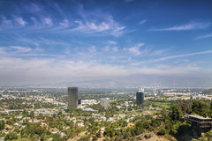Panorama of Los Angeles County Royalty Free Stock Photography
