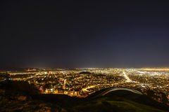 Panorama of San Francisco. Night of San Francisco took from twins peak Stock Photos