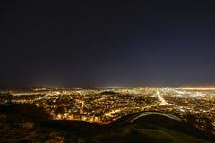 Panorama of San Francisco. Night of San Francisco took from twins peak Stock Photos