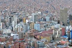 Panorama los angeles Paz, Boliwia Fotografia Stock