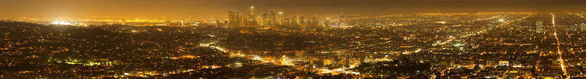Panorama of Los Angeles Skyline stock photography