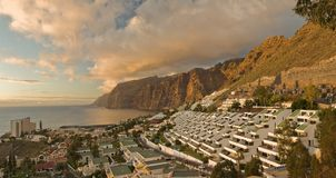 Panorama of Los Gigantes Stock Images